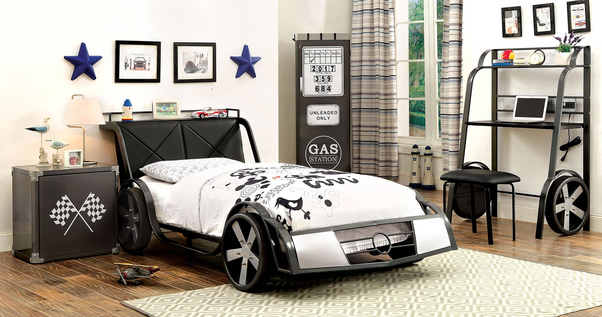 GT-Racer-Twin-Bed-$430-also-available-in-Full-Night-Stand-$138-Desk-$338-Closet-238